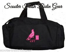 Personalized Barrel Racing Racer Duffle Bag horse rodeo western Black pink NEW