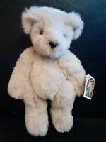 "NWT 1994~ Vermont Teddy Bear Co.~ Jointed Tan/Sandy/Cream 12"" Plush~ USA~ VTG"