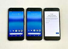 Lot of 3 - Google Pixel 1 - Black 32Gb Verizon Unlocked Smartphones - Read -
