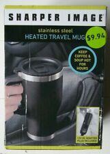Sharper Image stainless steel Heated Travel Mug New in Box