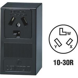 Leviton 30A Surface Mount Power Outlet **BLACK** (30A-125/250V)  (S5)