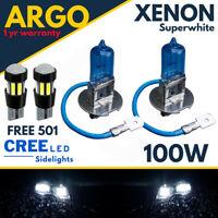 H3 100w Super White Xenon 453 Fog Head Light 483 Bulbs 12v / 501 Led Sidelights