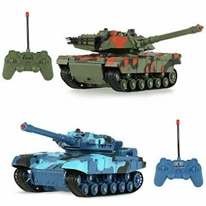 2 RC-TANKS TANK SET for 6 7 8 9 10 yr year old boy girl Adults TOYS Bday Gifts