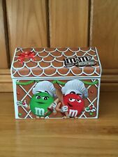 M & M COLLECTIBLE RECIPE BOX TIN WITH COOKIE CUTTER AND CARDS