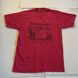 Vintage Searsmont Maine Large Fruit Loom USA 50/50 T Shirt Pink
