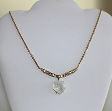Geometric Drop Pendant Necklace New $175 Alexis Bittar Mother of Pearl Crystal