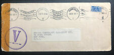 1943 Johannesburg South Africa Slogan Cancel Cover To New York USA Victory