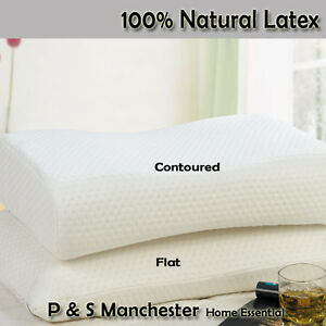 100% Natural High Density Latex Pillow With Washable Pillow Cover/Case