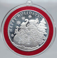 2018 USA United States HOLIDAYS SNOWMAN Snowflakes 1OZ Proof Silver Medal i86841