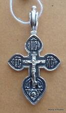 PLATA DE LEY 282m COLGANTE DE CRUZ Consecrated to the Relics of St George 28s