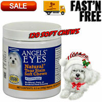 Angel's Eyes Natural Tear Stain Chicken Formula Soft Chews for Dogs, Cats 120 Ct