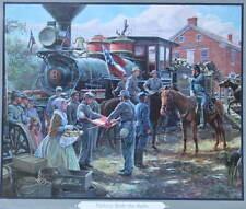 """"""" Victory Rode the Rails"""" Mort Kunstler Civil War print"""