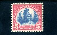 USAstamps Unused VF US $5 Series of 1922 America Scott 573 OG MLH Thins