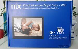 Nix 10 Inch Widscreen Digital Frame Hu-Motion Sensor + USB Memory Stick RRP £110