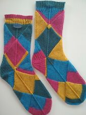 Hand Knitted Wool Socks Size 5 - 6