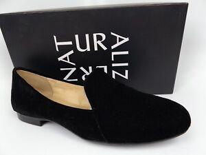 Naturalizer Women's EMILINE Closed Toe Loafers, Black Velvet, SZ 8.5 WIDE. 16654