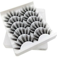 5 Pair 3D Mink False Eyelashes Wispy Cross Long Thick Soft Fake Eye Lashes