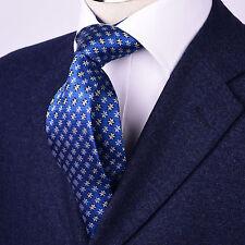 "Blue Floral Snowflake Winter Tie 3"" Modern Skinny Necktie Mens Fashion Accessory"