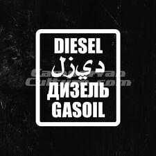 Overlanding Expedition 4x4 Camper Multi Language Fuel Sticker - White DIESEL