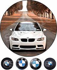 BMW Voiture Decoration Gateau Disque Azyme Comestible Anniversaire