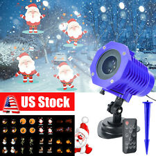 Christmas Xmas LED Projector Light Moving Laser Landscape Outdoor Lamp Decor USA