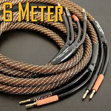 6 Meter TENOR-AUDIO Golden Plated Audiophile Hi-end Banana Speaker Cable Pair IT