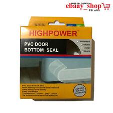 Tirant Chasse-PVC Porte Seal bande Tempête garde en Plastique PVC Bas Porte Garage