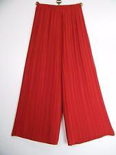 Saloos Fino plisado forro 100% poliéster Plazzo Pantalones 2 Cols Tallas