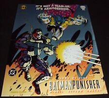 "BATMAN & PUNISHER ""LAKE OF FIRE"" DC & MARVEL 1994 ONE-SHOT PROMO POSTER 17 x 22"""