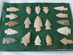 Native American Indian 19 artifacts, personal find, nice flint types