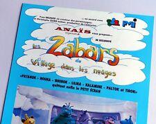 Rare affiche spectacle Village dans les Nuages Casimir Zabars tv TF1 1983