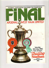 FA Cup Home Teams S-Z West Ham United Football Programmes