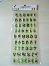 DCWV - NEW - GLITTERED EPOXY ALPHABET STICKERS - SAFARI KIDS