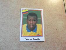 (NO PANINI) FOOTBALL STICKER ed BROCA USA 94 1994 / FAUSTINO ASPRILLA COLOMBIA