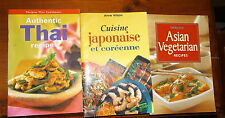 3 x Mini Cookbooks Asian Vegetarian Recipes Japanese Cuisine & Authentic Thai