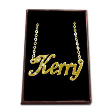 Gold Plated Name Necklace - KERRY - Gift Ideas For Her - Wedding Birthday Custom