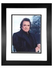 Johnny Cash  003  8X10  PHOTO FRAMED TO11X14
