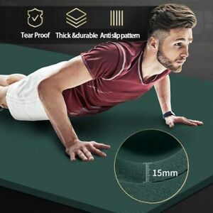 200*90cm 15mm Yoga Mat High Quality Exercise Sport Mats For Gym Home Fitness Tas