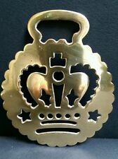 Antique Horse Brass with Crown Motif c.1890