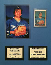 1987 Topps Glossy Fernando Valenzuela Photo Card Matte 11x14 Actual Photo Used