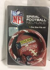 NFL Spiral Football Necklace. Texans. One Size Fits All. New In Box