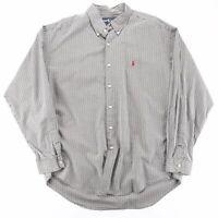 Vintage RALPH LAUREN Marlowe Brown 90s Long Sleeve Check Shirt Mens XL