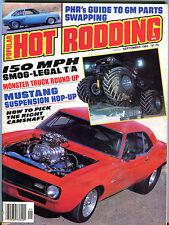 Popular Hot Rodding Magazine September 1984 Mustang Suspension EX 021916jhe