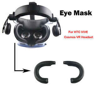 For HTC VIVE Cosmos VR PU Leather Eye Mask Cover Sweat-proof Mat Replacement 1PC