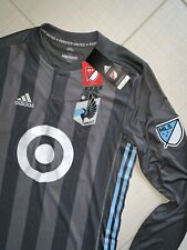2018 Adidas Men's Minnesota United Long Sleeve Soccer Jersey Size M Authentic