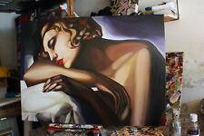 QUADRO  Olio su tela  tamara de lempicka prodotto italiano dipinto a mano