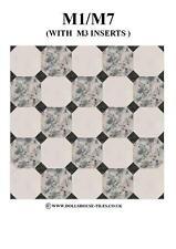 DOLLS House miniature, pavimenti, pavimenti in miniatura tiles,sf7-m1 / M7 OTTAGONO TASSELLI