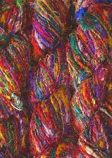 1 Quality Recycled Sari Silk Woven Knitting Crochet Yarn 1000 Gram - 10 Skeins