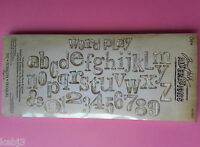 Sizzix BIGZ XL Alphabet Die Tim Holtz Word Play 657837 OtherChoicesAvailableNEW