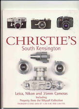 CHRISTIE'S LEICA NIKON CANON 35mm CAMERAS LENSES Whysall Coll Auction Catalog 00